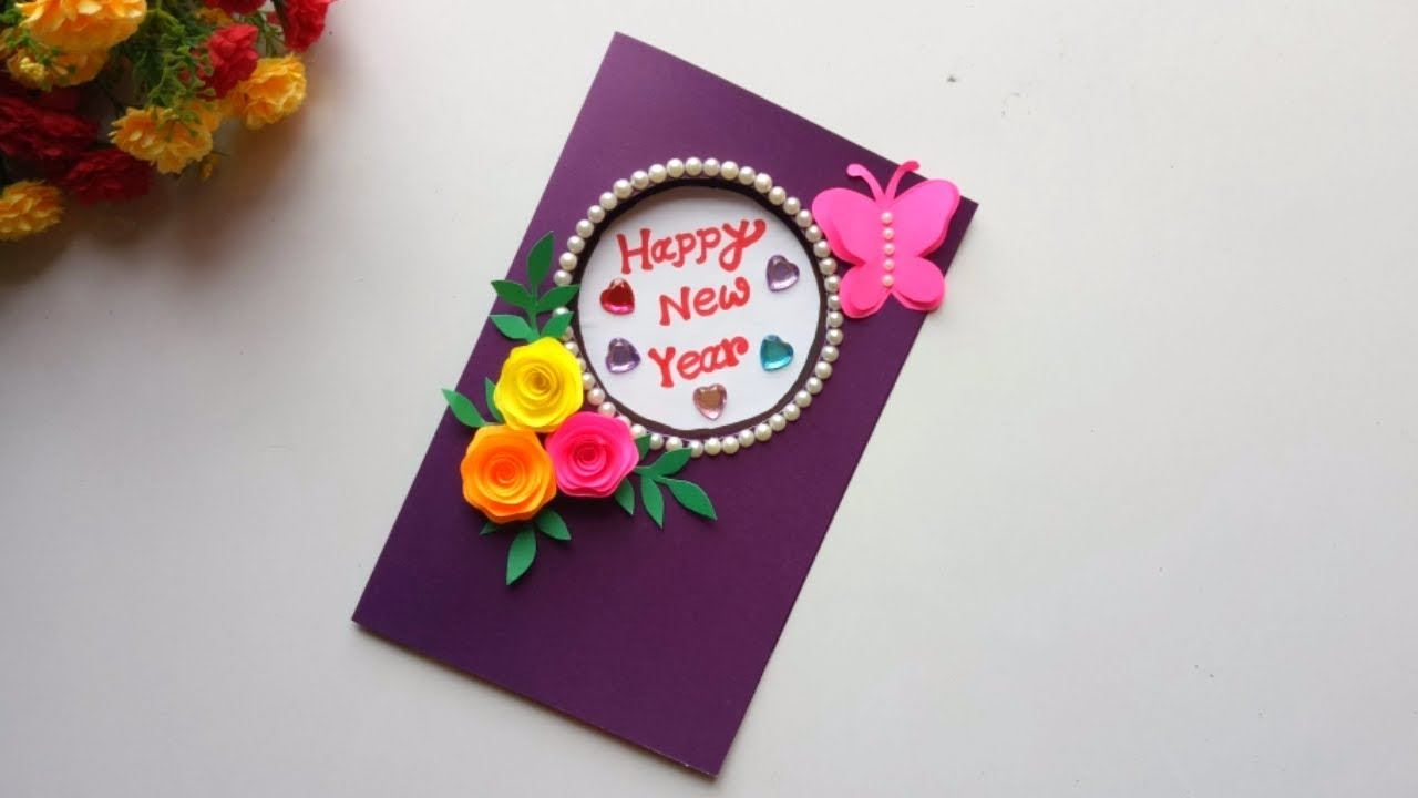 Beautiful Handmade Happy New Year 2019 Card Idea Diy Greeting Cards For New Year