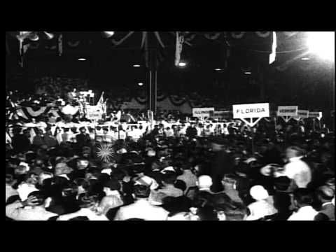 Democratic Party convention in 1924, New York, United States. Al Smith Presidenti...HD Stock Footage