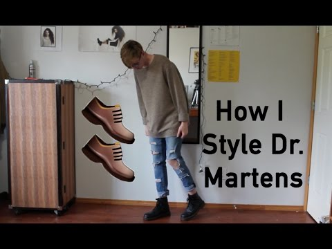 how i style dr martens mens fashion youtube