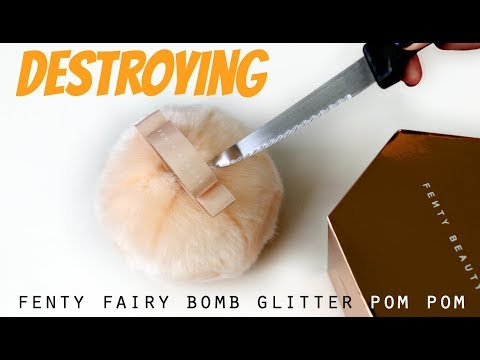 Cutting open Fenty Fairy Bomb Glitter Pom Pom & re-pressing the highlighter! | THE MAKEUP BREAKUP
