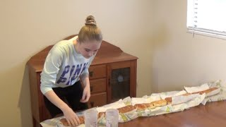 5 ft Subway Sandwich Challenge! ft Isaac H.D