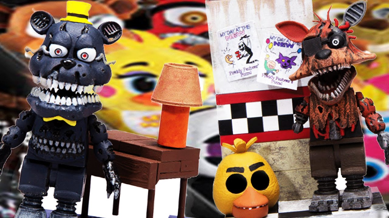 More five nights at freddy s construction sets coming soon - Five Nights At Freddys Fun With Balloon Boy And Nightmare Exclusive Toys New Funko Plushies Youtube