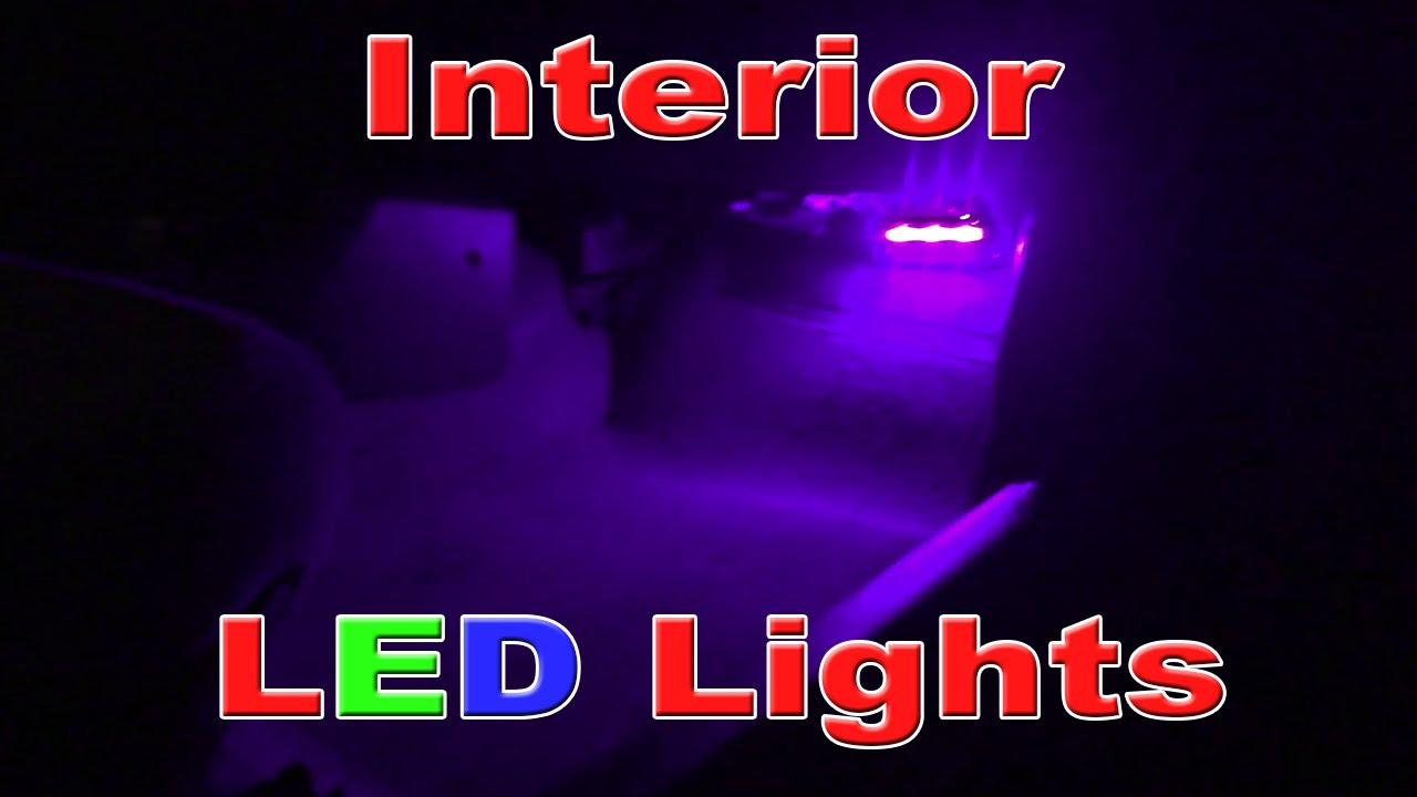 interior led courtesy lights youtube. Black Bedroom Furniture Sets. Home Design Ideas