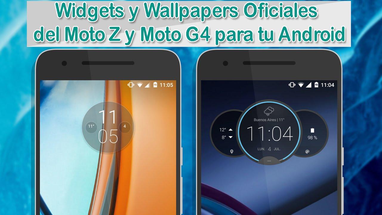 Moto Z & Moto G4 Circle Widgets