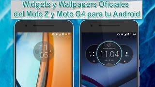 Moto Z & Moto G4 Circle Widgets|Times weathers Oficiales|Camara G4 y Wallpapers|Cualquier Android.