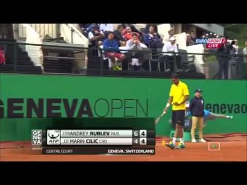 Andrey Rublev vs Marin Cilic Geneva 2015 Match - Part 2