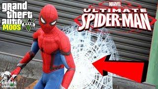 NEW SPIDERMAN MOD in GTA 5! (GTA 5 Mods) / kwebbelkop