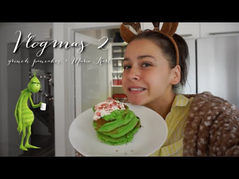 Making Grinch Pancakes + Deep Chit Chat + Christmas Shopping / VLOGMAS 2