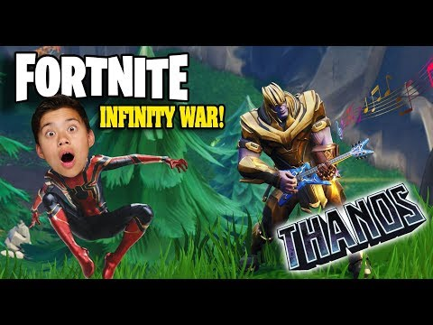 I AM THANOS!!! Fortnite Avengers Infinity War - RACE TO THE INFINITY GUANTLET!
