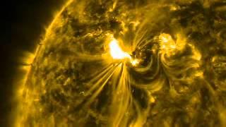 تصوير حقيقي للانفجار الشمسي من قمر صناعي لوكالة ناسا