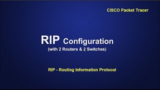 Routing Information Protocol (RIP) configuration in CISCO Packet Tracer [.pkt]