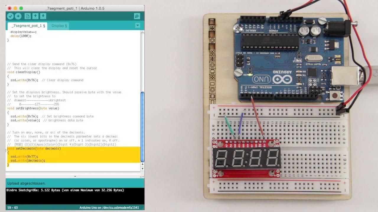 Serielles 7-Segment-Display am Arduino betreiben, Teil 1 ...
