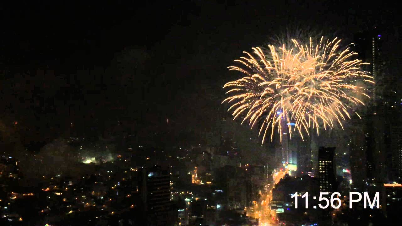 New Year 2016 Fireworks Manila Philippines Youtube