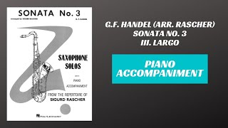 G.F. Handel (arr. Rascher) – Sonata No. 3, mvt. III (Piano Accompaniment)
