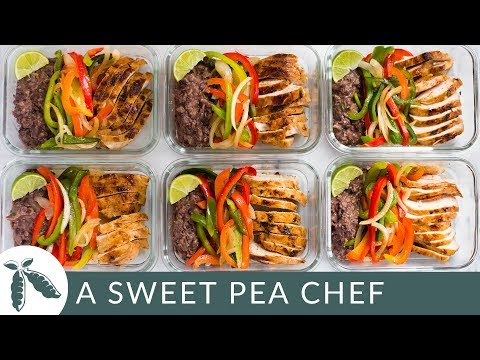 Healthy Chicken Fajitas Meal Prep | Meal Prep On A Budget (Just $3.37!) | A Sweet Pea Chef