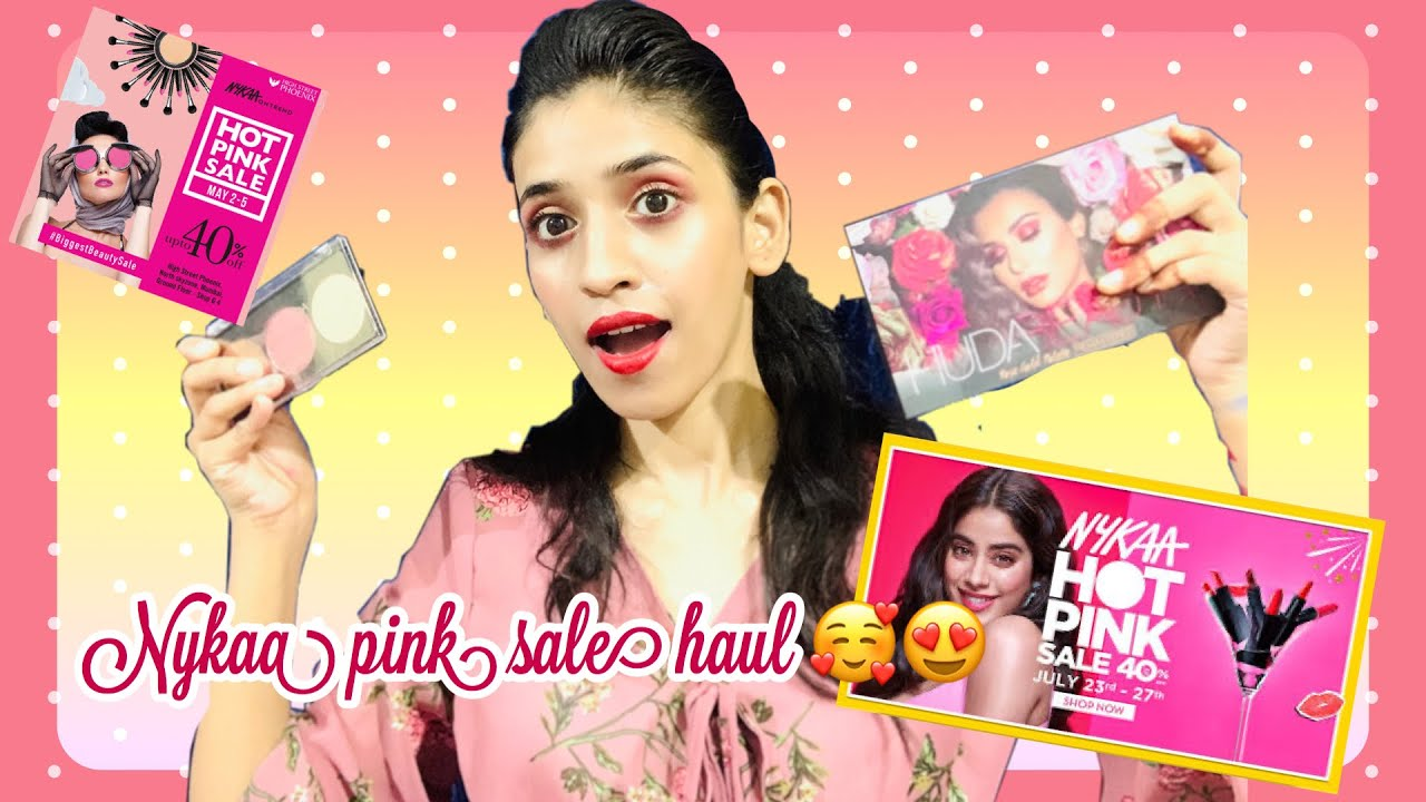 Nykaa pink sale haul |shrutimakeover|