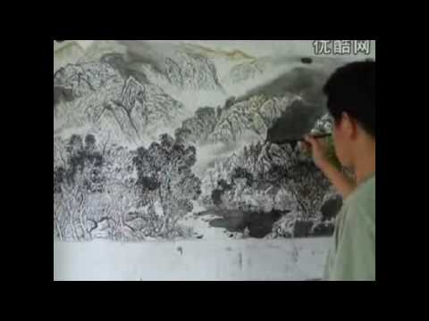 Traditional Chinese Landscape Painting + Poems on Work (part1)