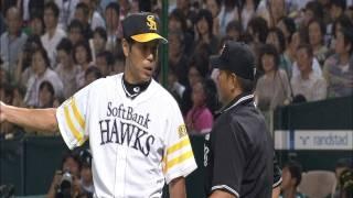 「ボークでしょ?」 秋山監督、主審に抗議 9月17日 ソフトバンク-日本ハム