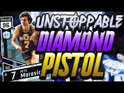 NBA 2K17 MYTEAM DIAMOND PETE MARAVICH GAMEPLAY! HE CAN HIT FROM ANYWHERE!