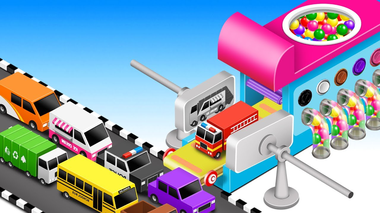 Learn Colors for Children with Street Vehicles - Colors for Kids - Learning Video