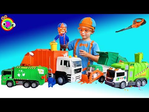 Garbage Truck Video For Kids   BLiPPi Toy   Min Min Playtime