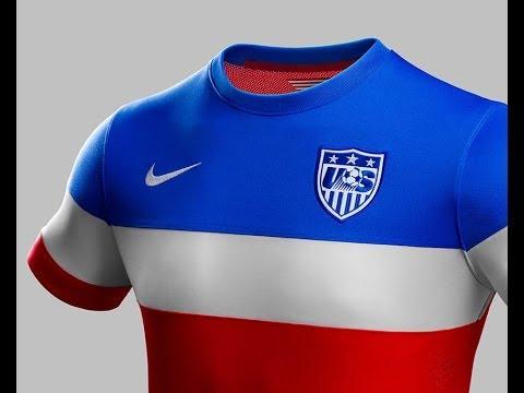 917ef1e63e4 USA World Cup Away Jersey 2014 - U.S. Soccer Kit - YouTube