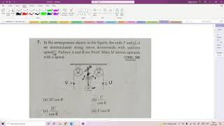 Jee advance 1982: In the arrangement shown in the figure, the ends P and Q ....