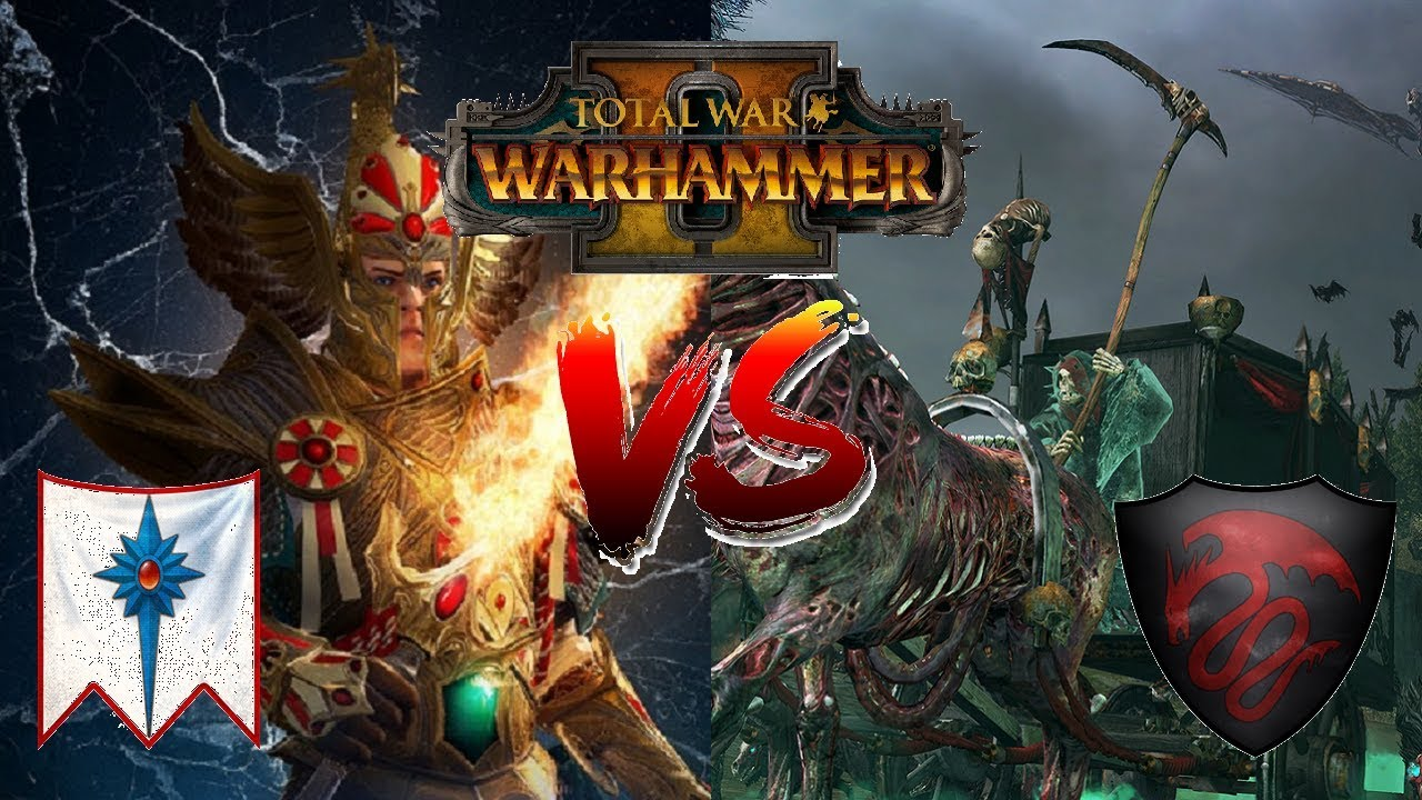 FEAR THE BLACK COACH | Vampire Counts vs High Elves: Mortal Empires Preview  - Total War Warhammer 2