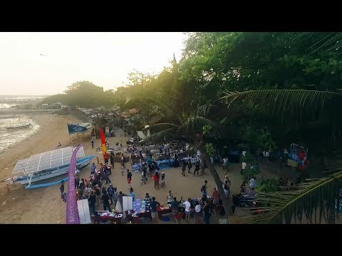Solar Boat Surya Namaskar turned ECO-POWER STATION at Genius Cafe's Ocean day, Bali