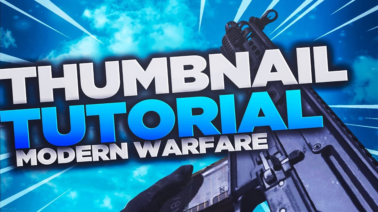 How To Make Modern Warfare Thumbnails Like The Pros Free Modern
