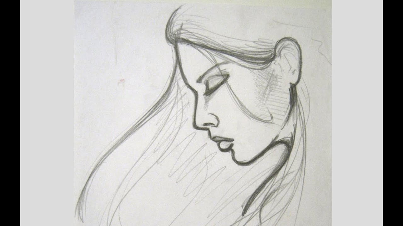 How to draw a female face vary easy drawing on paper