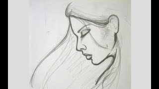 How To Draw A Female Face - Vary Easy Drawing on Paper