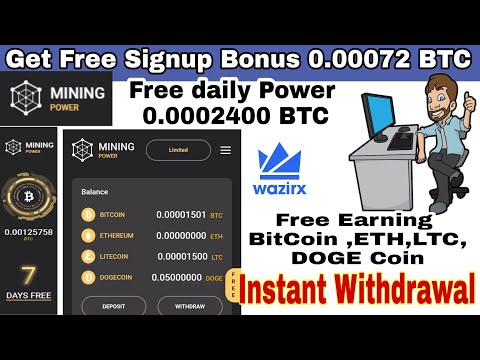 Mining Power | Best New Earning Bitcoin Site | Auto Miner |  Get Free 0.00075 BTC Signup Bonus