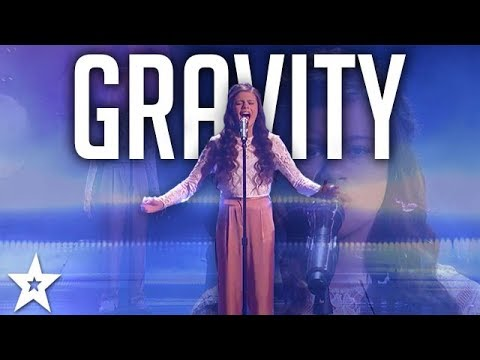 "13- Year-Old Angelina Green Sings ""Gravity"" on America's Got Talent 2017"