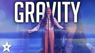 "13- Year-Old Angelina Green Sings ""Gravity"" on America"