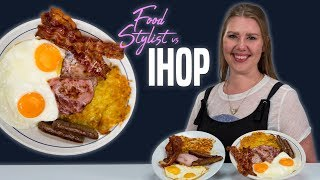 IHOP Food Styling Tricks | How to Make Insta Worthy Breakfast Platter  | Food Stylist Vs IHOP