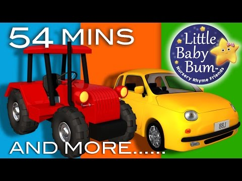 Thumbnail: Vehicle Songs! | Buses, Cars, Trains, Boats Plus Lots More Nursery Rhymes | by LittleBabyBum!