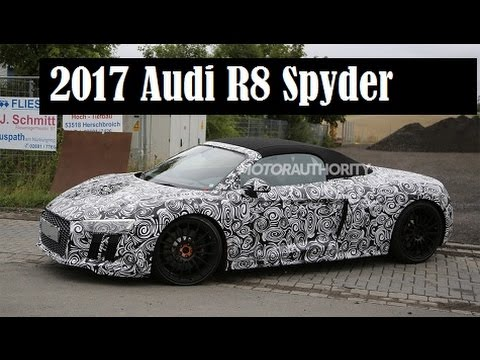 2017 Audi R8 Spyder Spied And This Convertible Will Debut At The