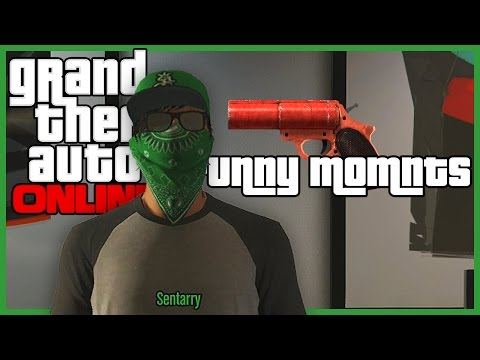 GTA 5 Online Funny Moments (Flare Guns Are Fun, Trolling Claxton, & More!)