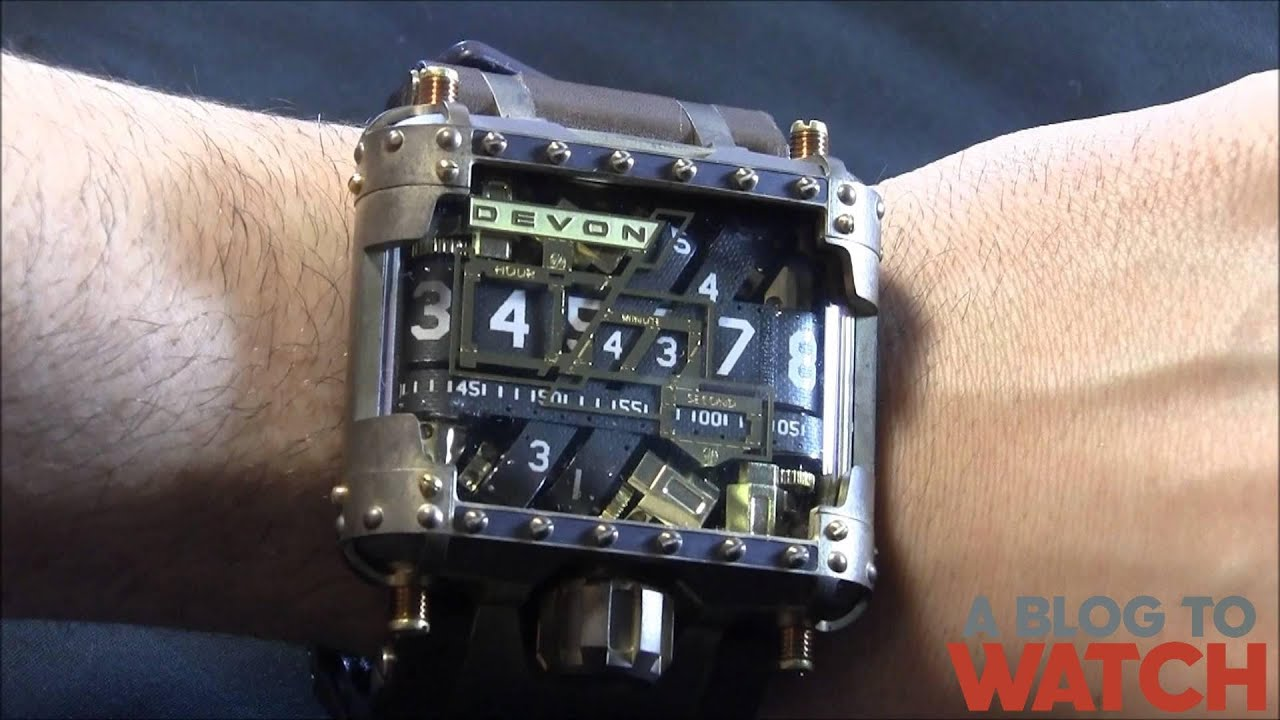 Devon Tread 1 Steampunk Watch Review Youtube