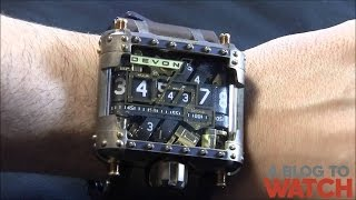 Devon Tread 1 Steampunk Watch Review(More at the watch review site http://www.ablogtowatch.com This is the limited edition Steampunk version of the Devon Tread 1. The Steampunk model has a new ..., 2012-11-18T08:10:03.000Z)