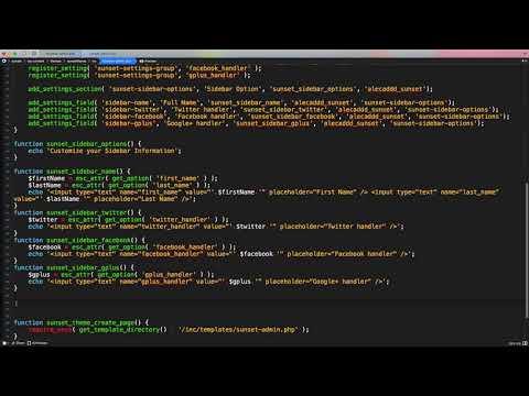 Part 5   WordPress Theme Development   Custom Social Media Fields and Sanitize Callbacks