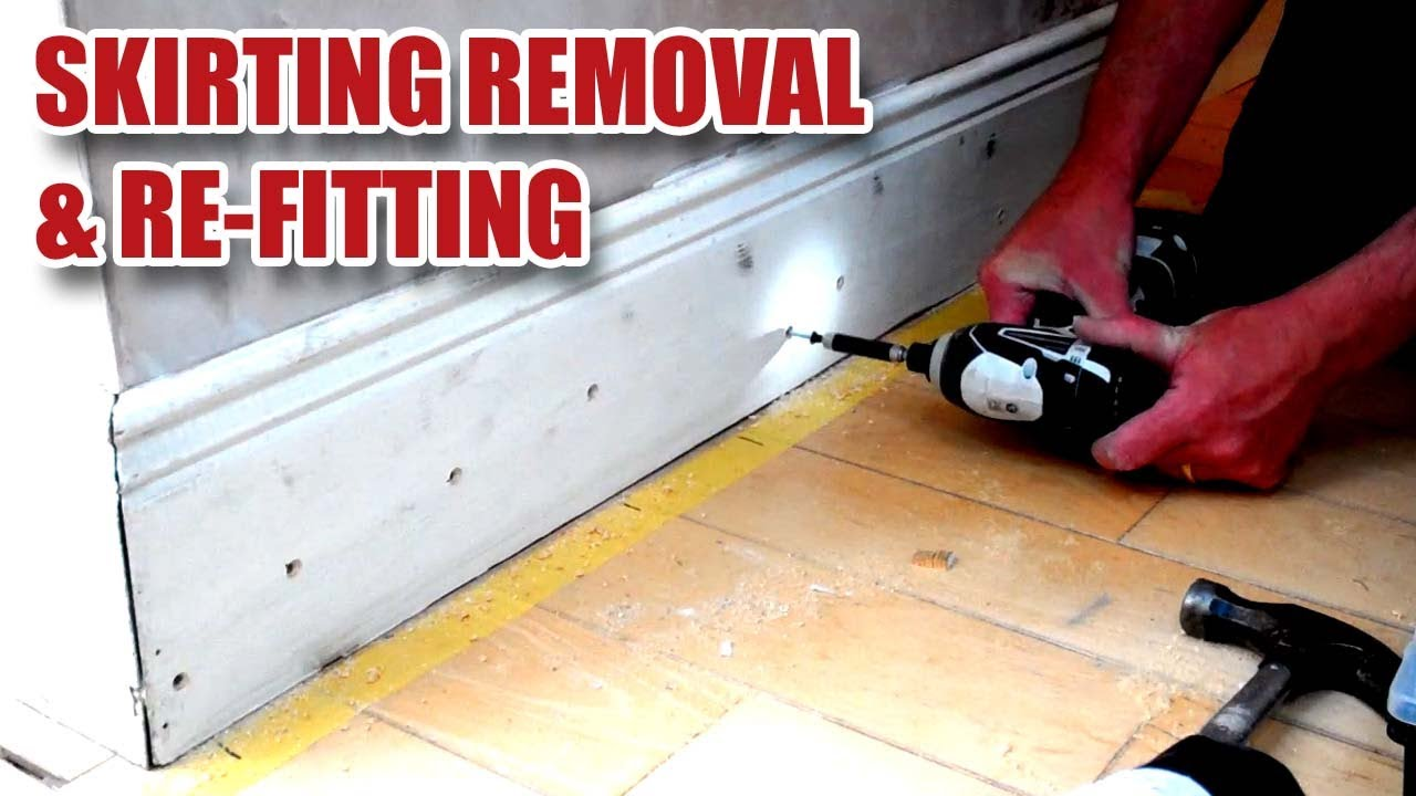 Skirting Board Baseboard Glue Removal Re Fitting 5