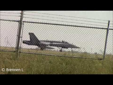 [HD] F18 Fighter Jet at Calgary International Airport (YYC)