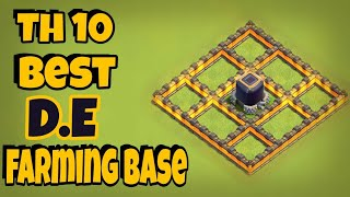 Th 10 Best Dark Elixir Farming Base 2018||Clash of clans||clash with gk||coc