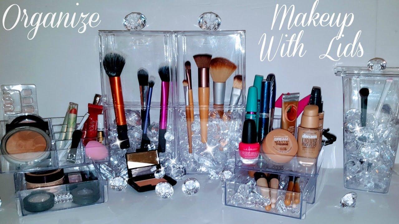"""DIY Makeup Organizer """"BRUSH"""" Storage LIDS using Dollar ..."""