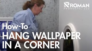 How to Hang Wallpaper in a Corner