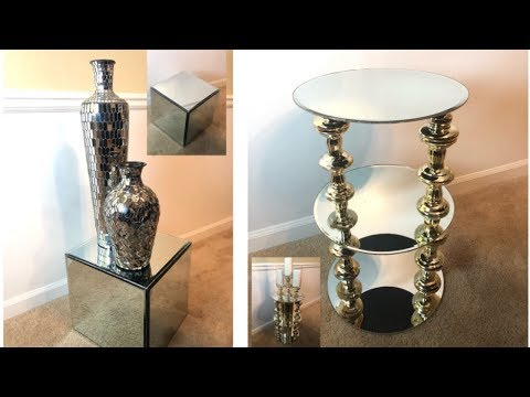 Home Decor DIY || Mirrored Side Tables || Easy & Inexpensive