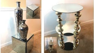 DIY || 💕Simple & Inexpensive Mirrored Side Tables💕