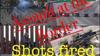 Breaking News: Hundred Migrants Assault U.S-Mexico Border Checkpoint, Ignoring Trump's Warning